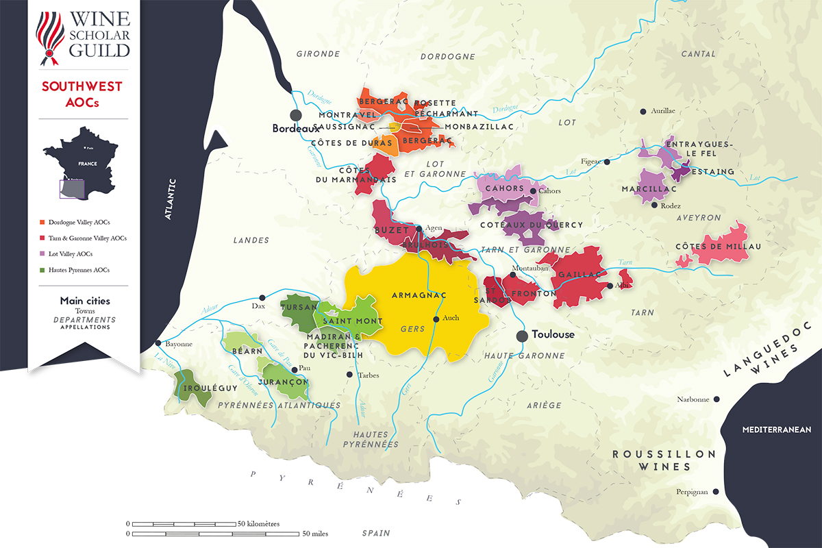 France Off the Beaten Path. The Wines of Southwest France ... |Southwest France Map