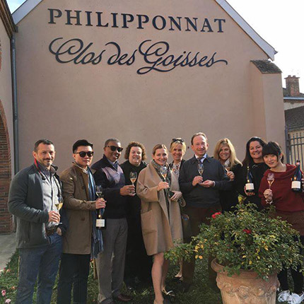 At Champagne Philipponnat with Charles Philipponnat