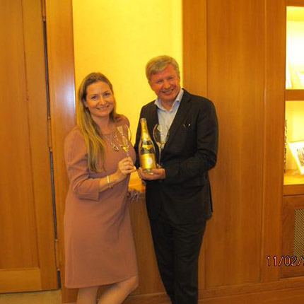 At Champagnes Roederer with Chef de Cave Jean-Baptiste Lecaillon and Essi Avellan MW
