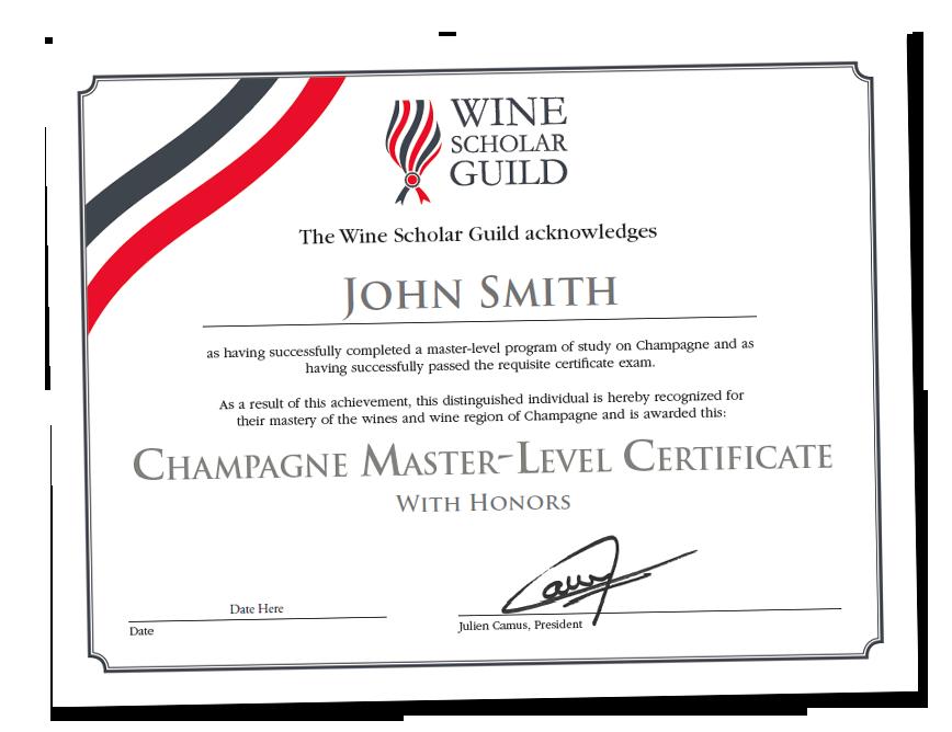 Champagne Master Level Online Exam