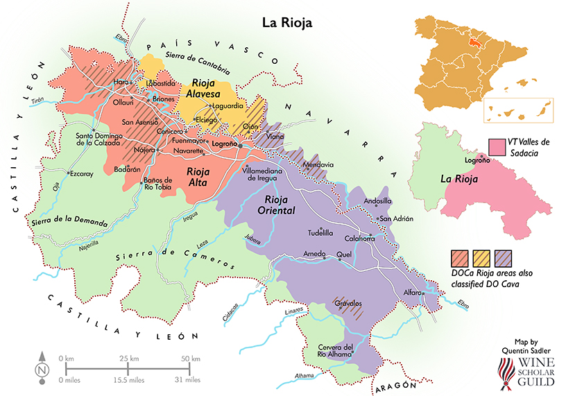 Map Of Spain Rioja.Mapping Spain With Quentin Sadler