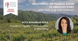 Susannah Gold and Abruzzo wines