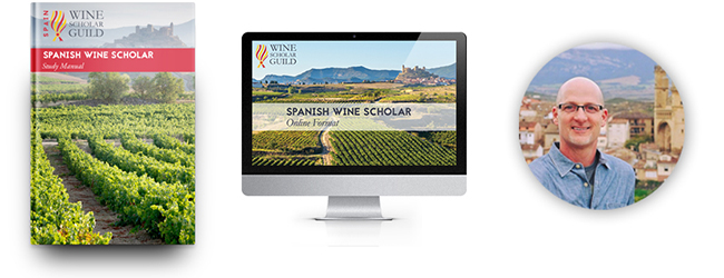 Spanish Wine Scholar study manual, online format, and instructor