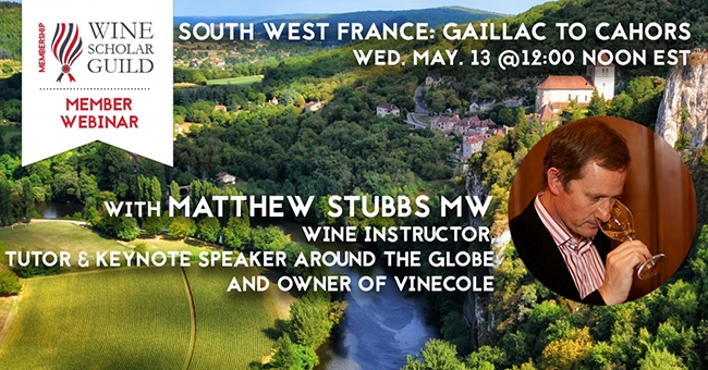 Southwest France: Gaillac to Cahors with Matthew Stubbs MW webinar promotion