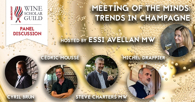 Meeting of the Minds: Trends in Champagne Panel Discussion promotion