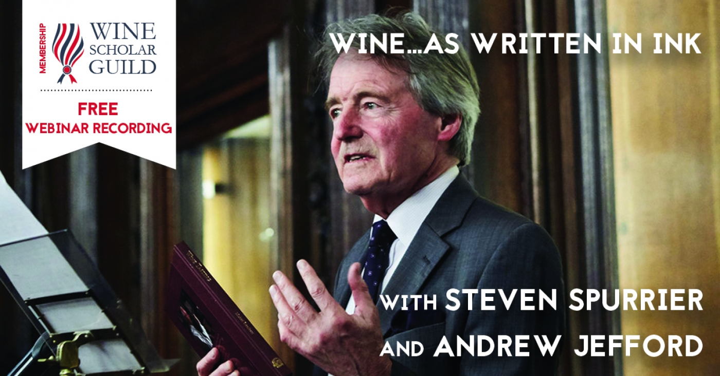 FREE: Webinar recording with Steven Spurrier and Andrew Jefford