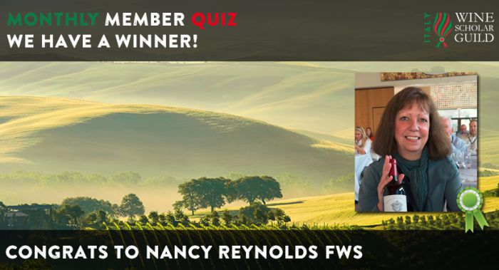 Winner of our March Member-only Quiz on Italy