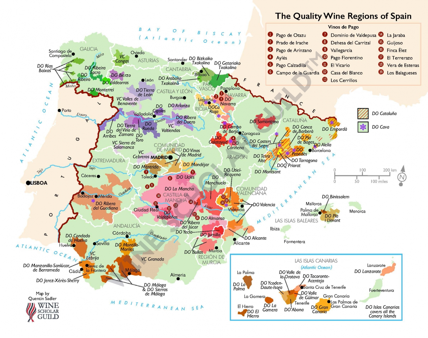 Wine Map of Spain - Spanish Wine Map