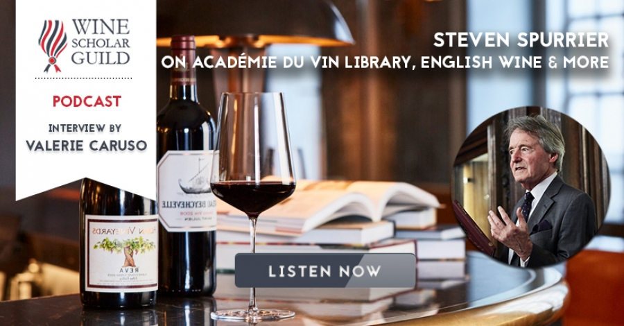 PODCAST: Steven Spurrier on Académie du Vin Library, English Wine & more
