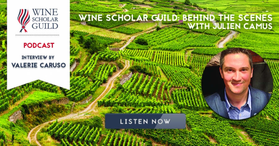 "PODCAST: Julien Camus on ""Wine Scholar Guild: behind the scenes"""