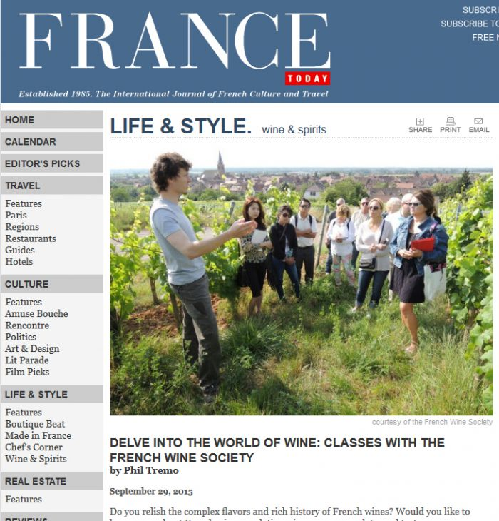 Featured in FranceToday.com