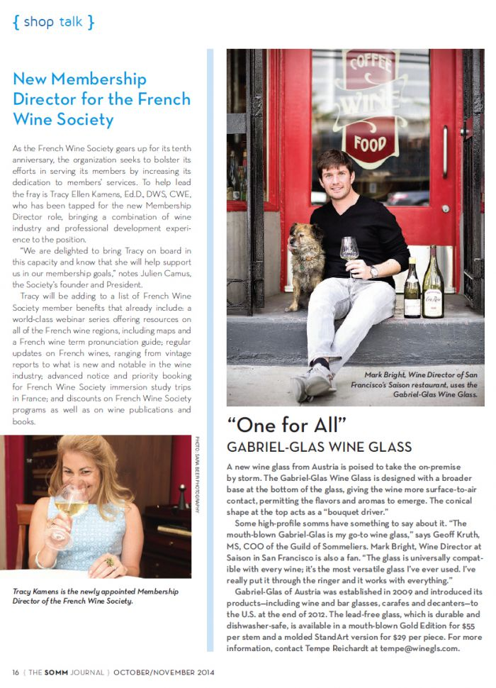 FWS in the Somm Journal