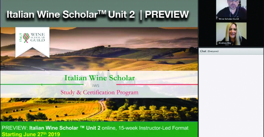 [Video Preview] Italian Wine Scholar Unit 2 Online format with Andrea Eby