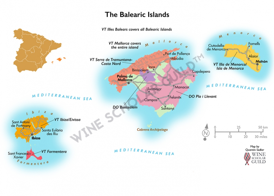 Balearic Islands Wine Map