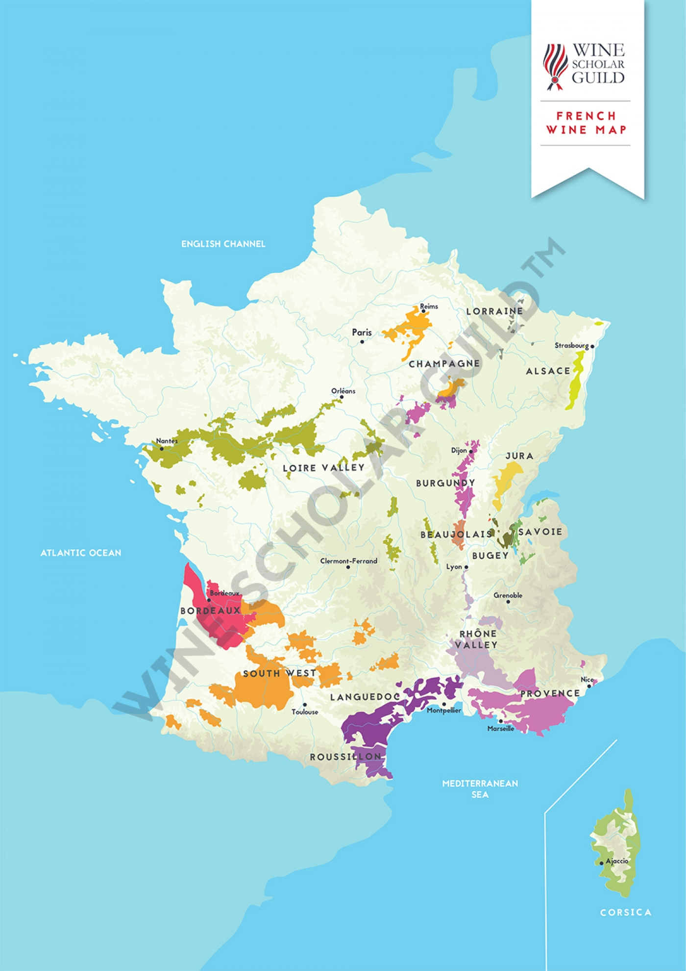 Map Of France Wine Regions French Wine Regions Map