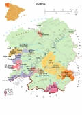 Green Spain wine map Asturias, Galicia Cantabria País Vasco