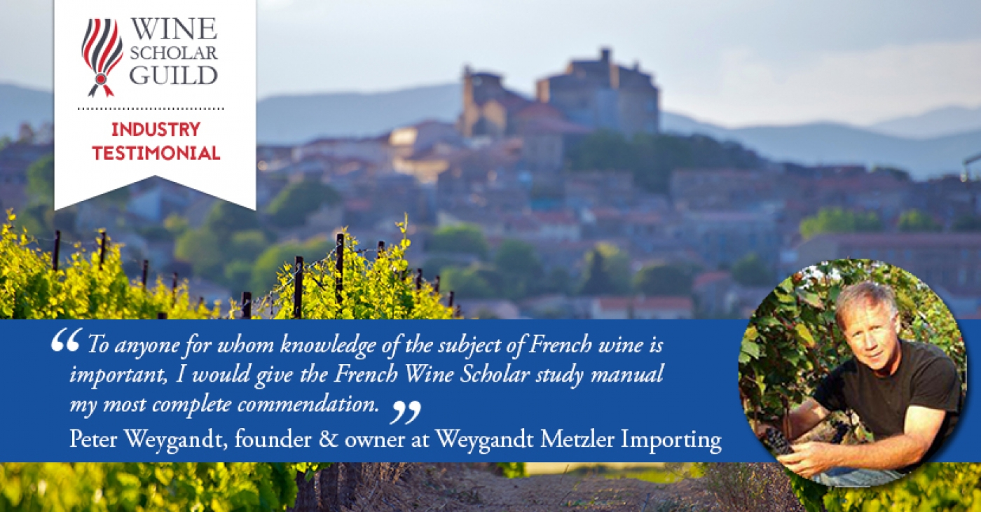 Industry Testimonial: US Importer Peter Weygandt reviews the French Wine Scholar™ manual