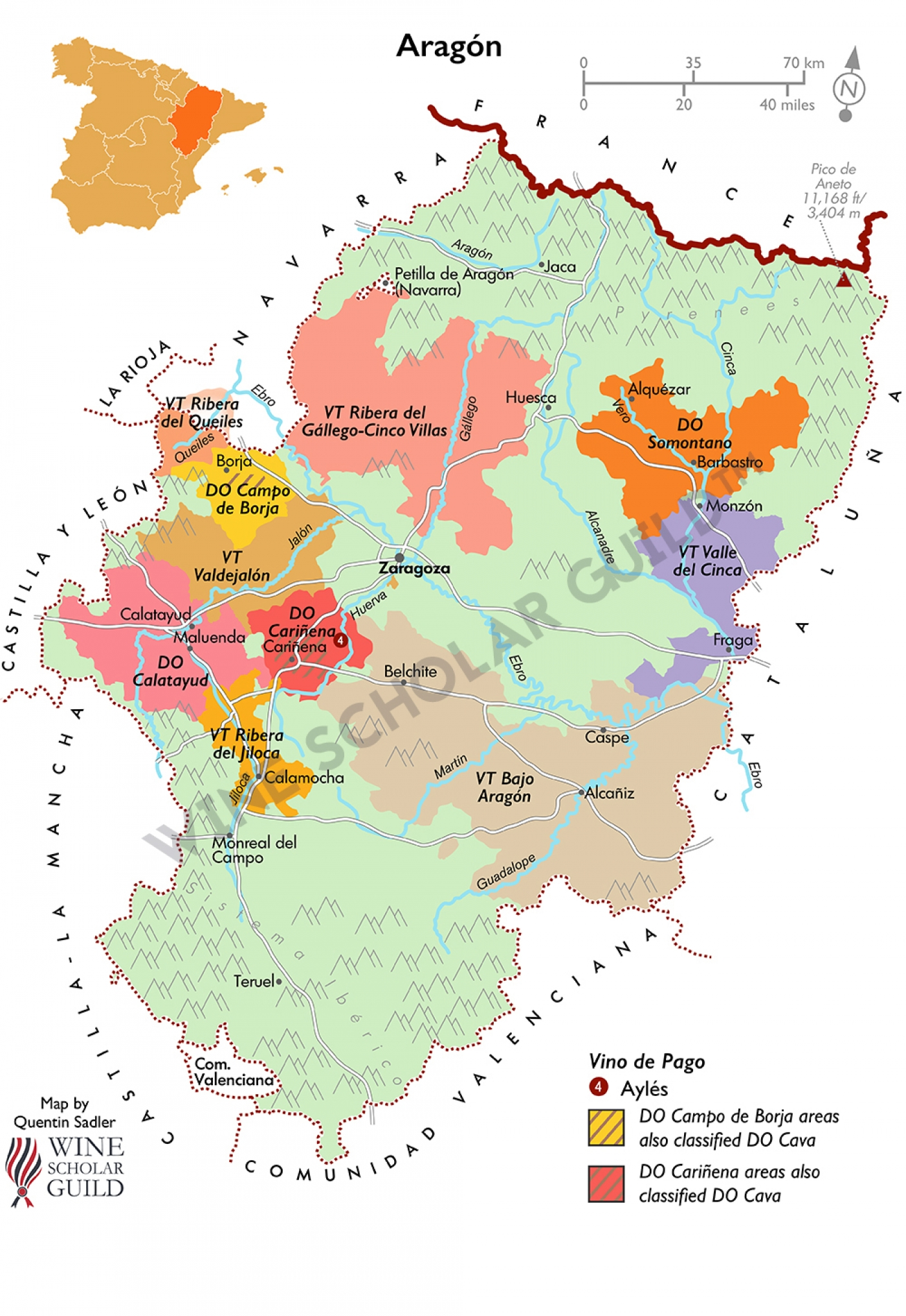Aragón Wine Map