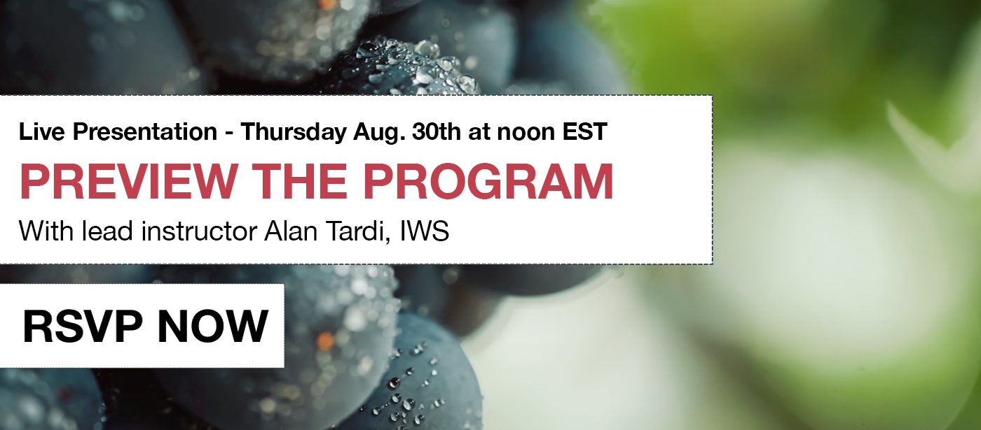 [Live Preview] Italian Wine Scholar Unit 2 Online format with Alan Tardi