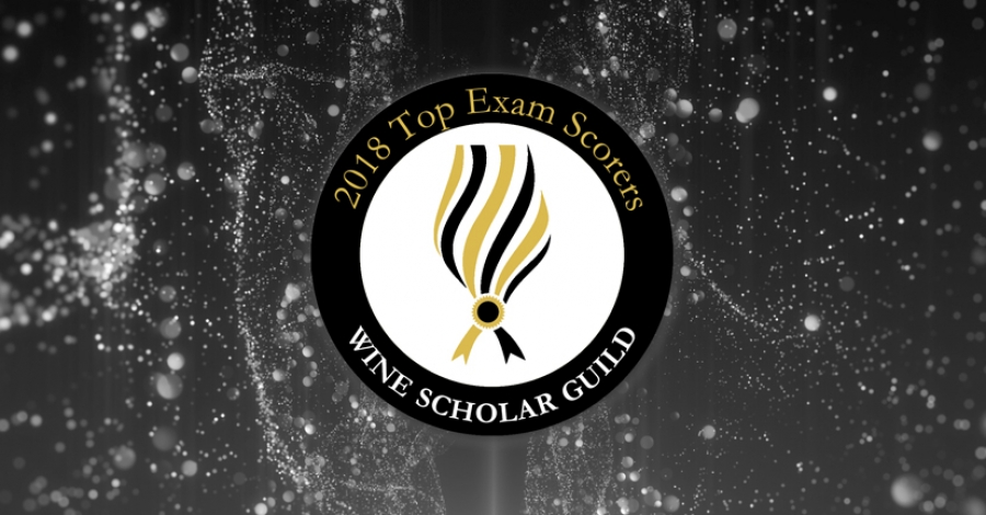 Wine Scholar Guild Top Exam Scorers for 2018