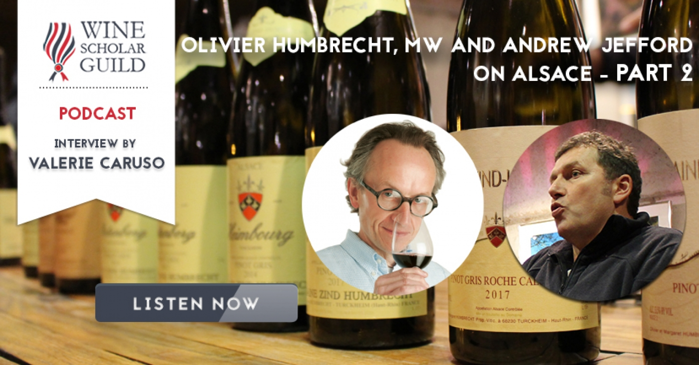 PODCAST: Olivier Humbrecht, MW and Andrew Jefford on Alsace - Part 2